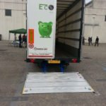 Retractable tail lifts with 1 fold for Driving or Semitrailer Altimanilift